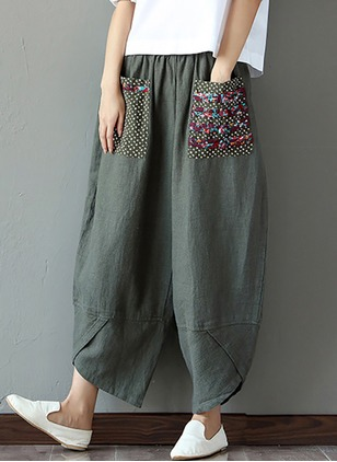 Loose Cotton Linen Trousers Pants & Leggings