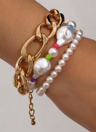 Club Ball Pearls Beaded Bracelets (111608121)