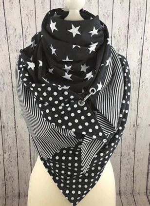 Casual Geometric Scarves (111608232)