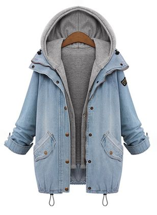 H-line Kappor Hooded Denimjackor (102930703)