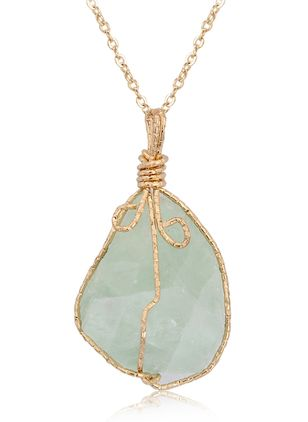 Casual Gemstone Pendant Necklaces (1518004)