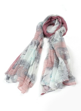 Cute Polyester Ruffles Others Geometric Scarves