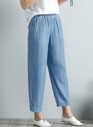 Loose Polyester Jeans Pants & Leggings