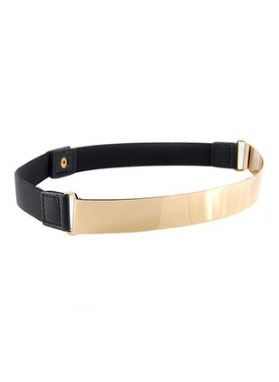 Cute Metal Metal Color Block Belts