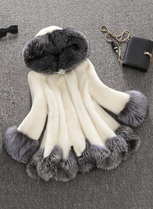 Faux Fur Polyester Long Sleeve Lapel Others Coats Coats