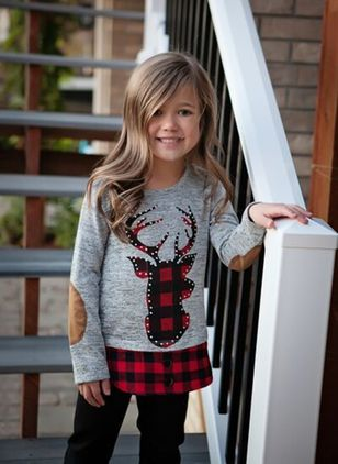 Girls' Cute Patchwork Daily Long Sleeve Clothing Sets
