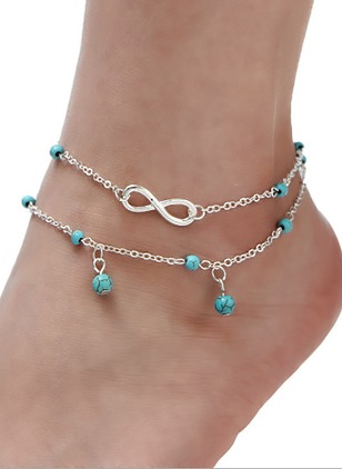No Stone Ball Round Anklet