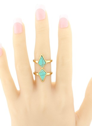 Geometric No Stone Rings Single