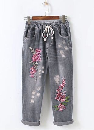 Loose Jeans Pants & Leggings