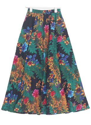 Floral Mid-Calf Casual Pattern Skirts (4456788)