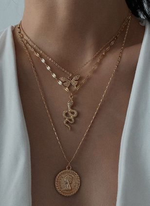 Sexy Animal No Stone Pendant Necklaces (4134950)