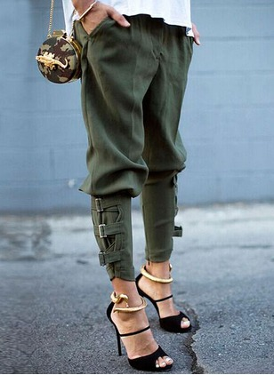 Harem Polyester Trousers Pants & Leggings