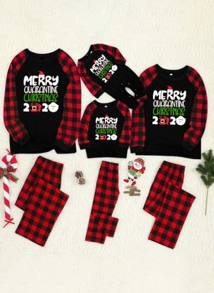 Family Look Alphabet Christmas Long Sleeve Family Outfits (146737895)