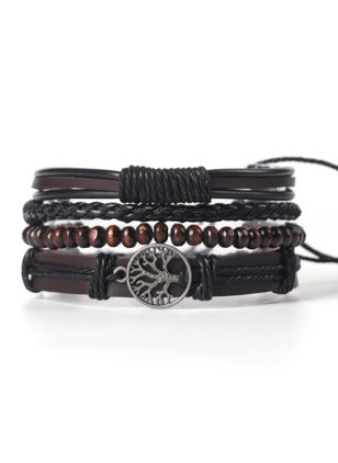 Casual Round No Stone Bangle Bracelets (6211654)