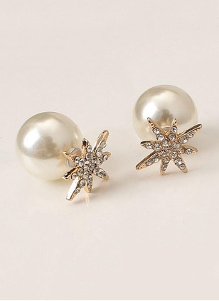 Ball Pearls Stud Earrings 1 pairs