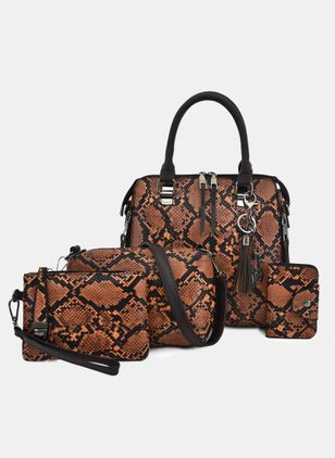 Bag Sets Fashion Zipper Print Double Handle Bags (4041092)