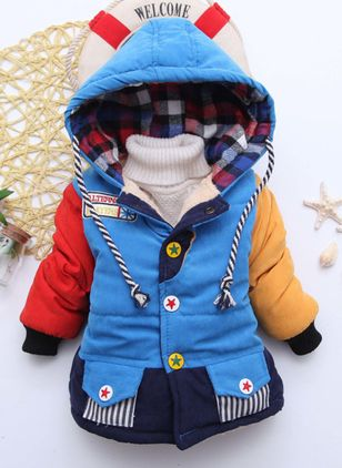 Boys' Cute Floral Hooded Coats
