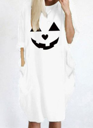 Halloween Animal Tunic Round Neckline O Dress (107805736)
