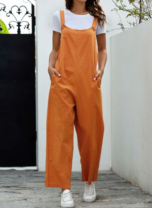 Women's Loose Pants Jumpsuits (4042830)