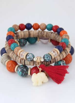 Vintage Tassel Ball No Stone Beaded Bracelets (107423130)