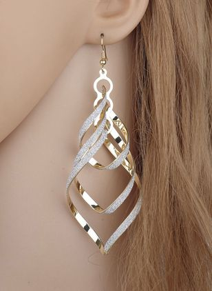 Casual Geometric No Stone Dangle Earrings (1521342)