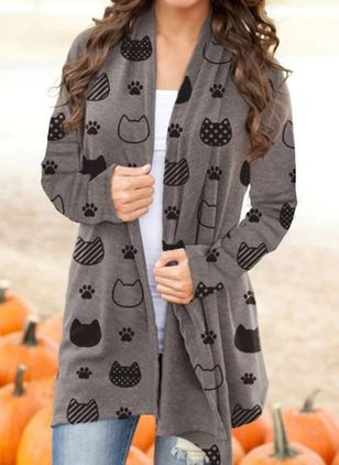 Long Sleeve V-neck Blanket Coats (106704821)