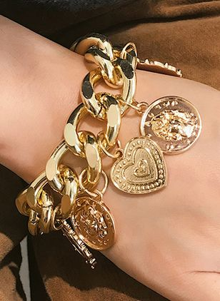 Club Heart No Stone Link Bracelets (1541699)