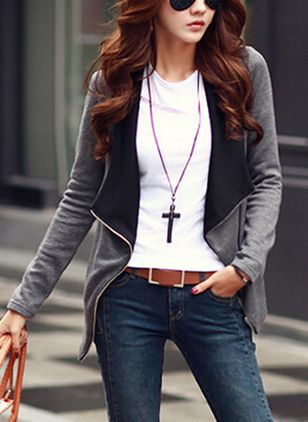 Long Sleeve Lapel Coats Jackets