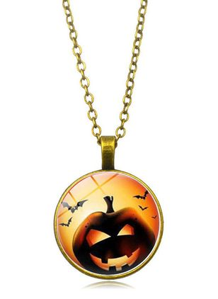Halloween Round No Stone Pendant Necklaces (108858000)