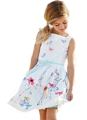 Girls' Graphic Daily Sleeveless Dresses