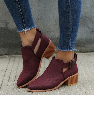 Buckle Pointed Toe Low Heel Shoes (1246693)