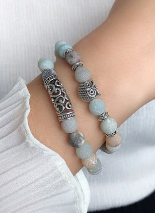 Casual Ball Animal Crystal Beaded Bracelets (4073951)