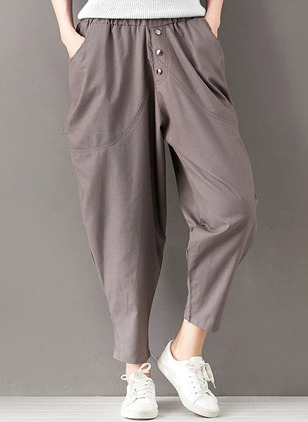 Harem Cotton Trousers Pants & Leggings