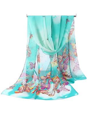 Casual Chiffon Animal Scarves
