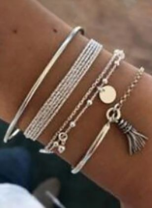 Casual No Stone Bangle Bracelets (2201378)