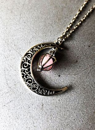Christmas Moon No Stone Pendant Necklaces (146712596)