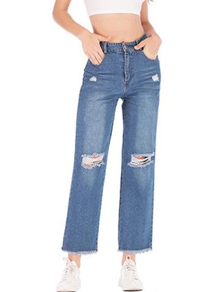 Women's Straight Jeans Pants (4041447)