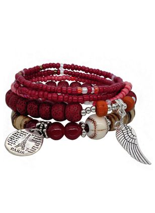 Casual Round No Stone Beaded Bracelets (1521614)