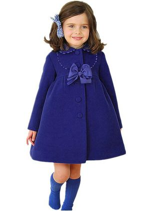 Girls' Solid Collar Coats