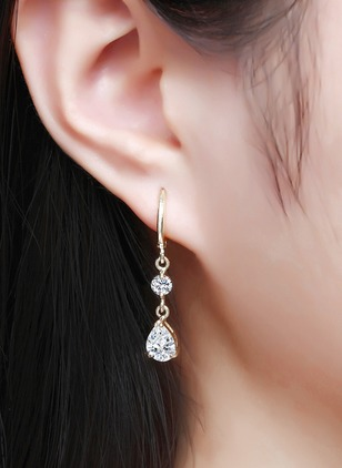 Water Drop Crystal Dangle Earrings 1 pairs