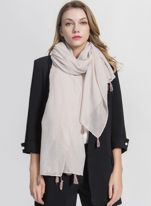Polyester Solid Scarves