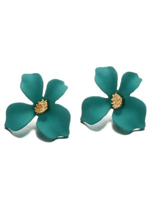 Elegant Floral No Stone Stud Earrings (4458788)