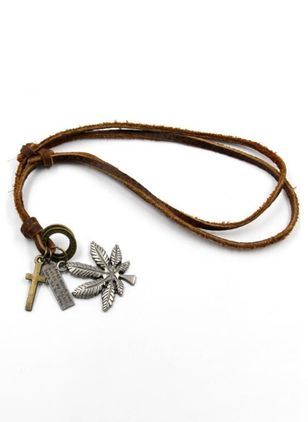 Vintage Floral Cross No Stone Pendant Necklaces (104917754)