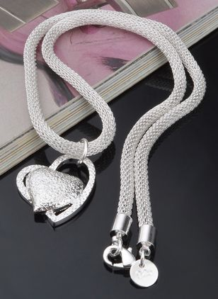 Casual Heart No Stone Pendant Necklaces (4126784)