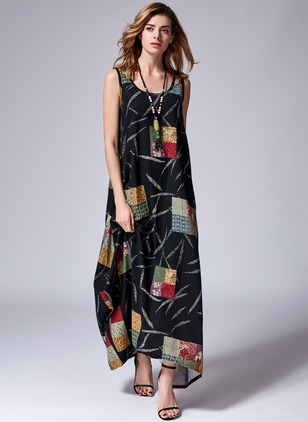 Sleeveless Maxi O Dress