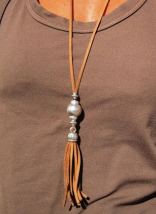 Casual Tassel No Stone Pendant Necklaces (4049778)