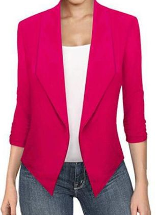 Long Sleeve Lapel Blazers Coats (5144465)