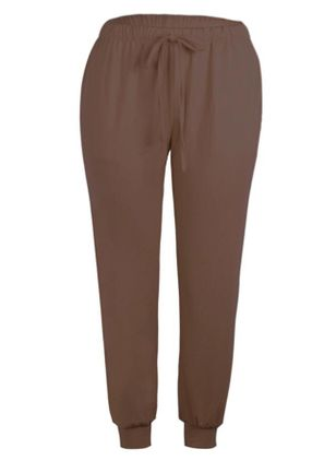 Casual Straight Pockets High Waist Polyester Pants (107804743)
