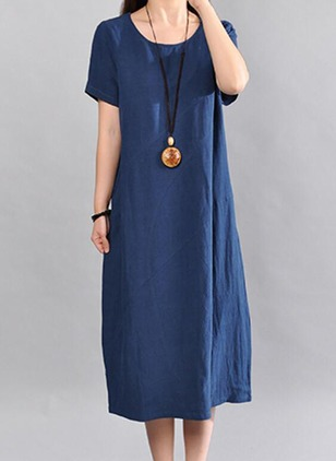Arabian Solid None Tunic A-line Dress (1162608)