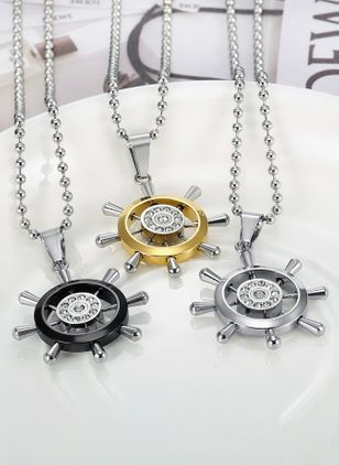 Casual Geometric No Stone Pendant Necklaces (111853006)